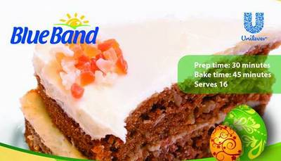 Download our monthly flyer for Easter Carrot Pineapple Cake