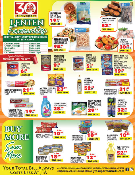 Download our monthly flyer for Lenten Favourites