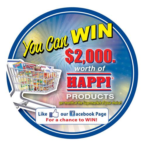 Win $2,000.00 worth of HAPPI Products