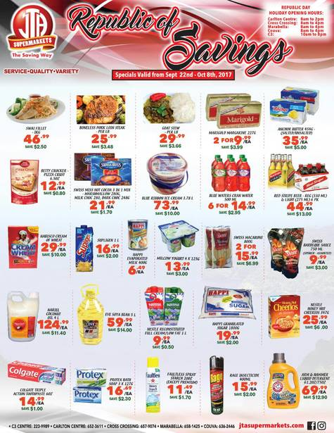 Download our monthly flyer for Republic of Savings