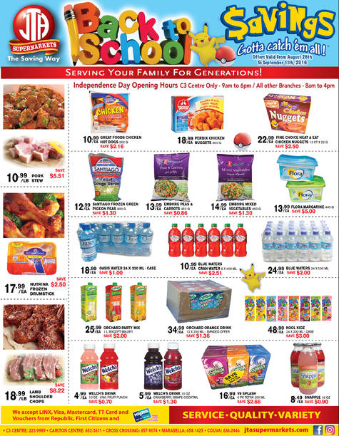 Download our monthly flyer for Back to School Savings at JTA