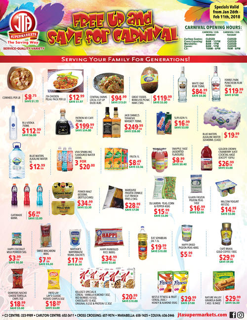 Red And White Food Store Flyer