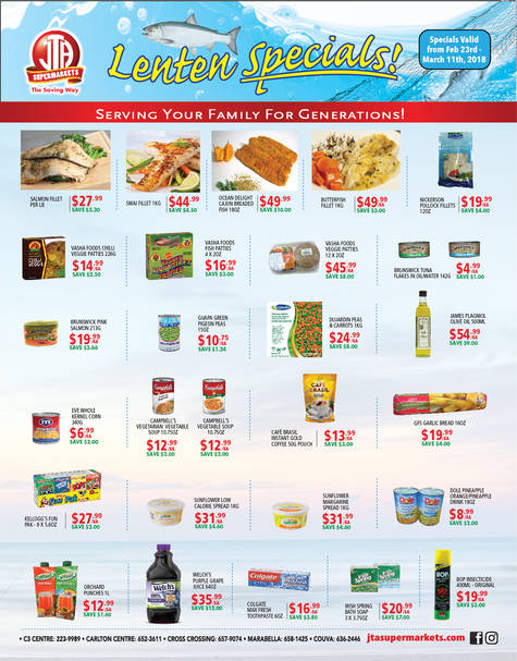 Download our monthly flyer for Catch the Savings this Lent!