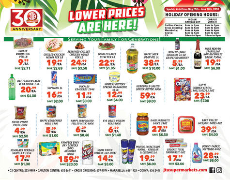 Download our monthly flyer for Lower prices have ARRIVED at JTA