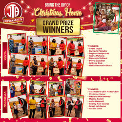 JTA CHRISTMAS PROMOTION -GRAND PRIZE WINNERS