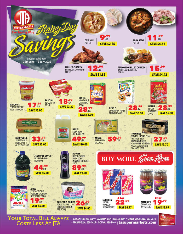 RAINY DAY SAVINGS - JUNE MONTH-END SPECIALS!