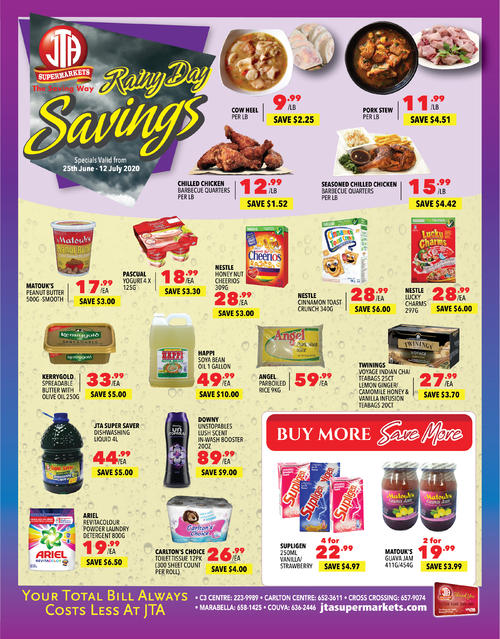 Rainy Day Savings - June Month-End Specials