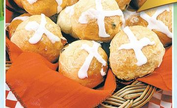 Hot Cross Buns with Blue Band
