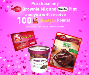 Betty Crocker and Haagen Daz Bonus JTA Thank You Points Promotion!