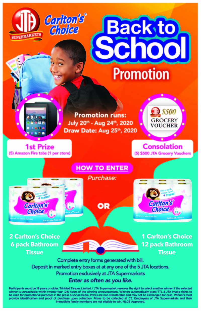 CARLTON'S CHOICE BACK TO SCHOOL PROMOTION