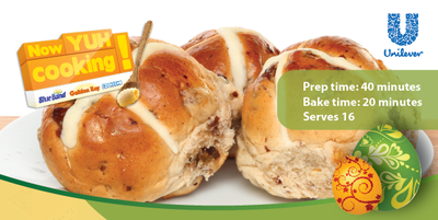 Download our monthly flyer for Apple, Cinnamon and Raisin Hot Cross Buns