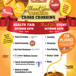 Thank You Weekend - Cross Crossing Oct 25th - 26th, 2019