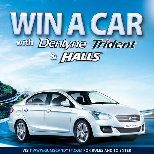 WIN a CAR with Dentyne, Halls, and Trident!