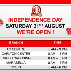 Independence Day Public Holiday Hours