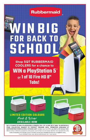 RUBBERMAID BACK TO SCHOOL PROMOTION