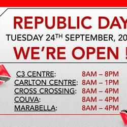 Republic Day Public Holiday Hours