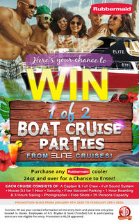 WIN a Party Boat Cruise from Elite Cruises with Rubbermaid!