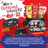WIN a Carnival Liming Kit from SWISS & JTA Supermarkets!