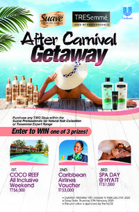 SUAVE/TRESemme After Carnival Getaway Promotion