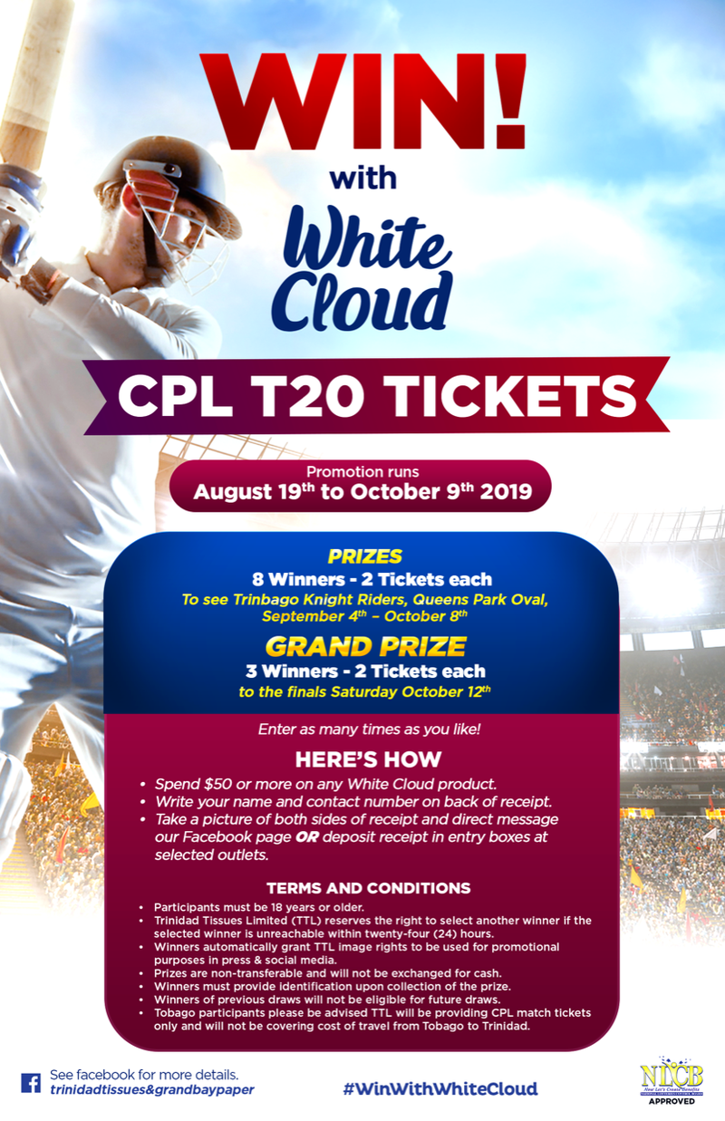 WIN CPL Tickets with White Cloud!