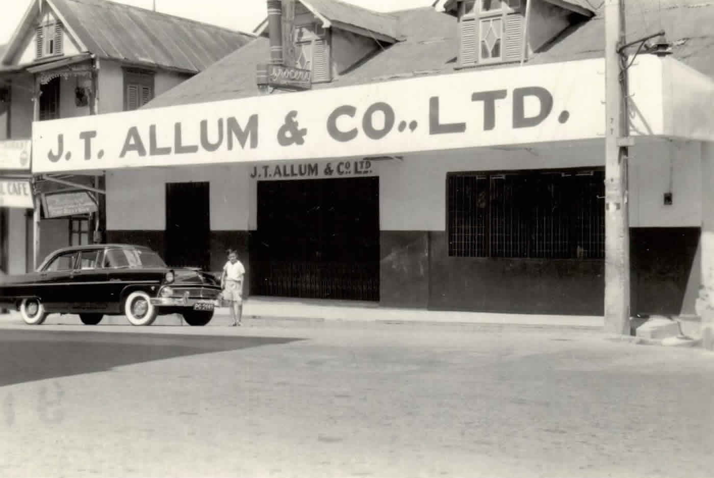 JT Allum & Co. Ltd. on 100 High Street circa 1955